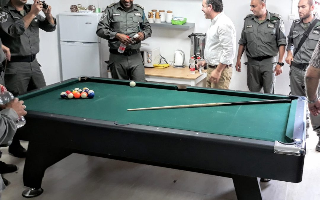 New Recreation Room for the Border Patrol (Hebron)