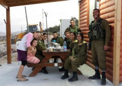 Yashar LaChayal's Warm Corner Project provides patrolling IDF soldiers with a place to relax and refresh themselves.