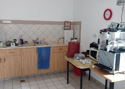 Kitchen in our Warm Corner at Kiryat Arba