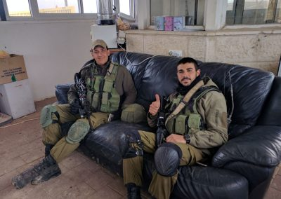 IDF soldiers enjoy relaxing in Yashar LaChayal's Warm Corner