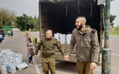Passover Food Packages to 850 Needy Soldiers
