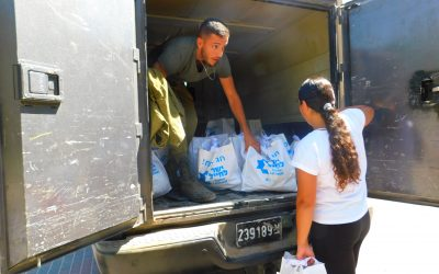 Rosh Hashana Food Packages to over 900 Needy Soldiers