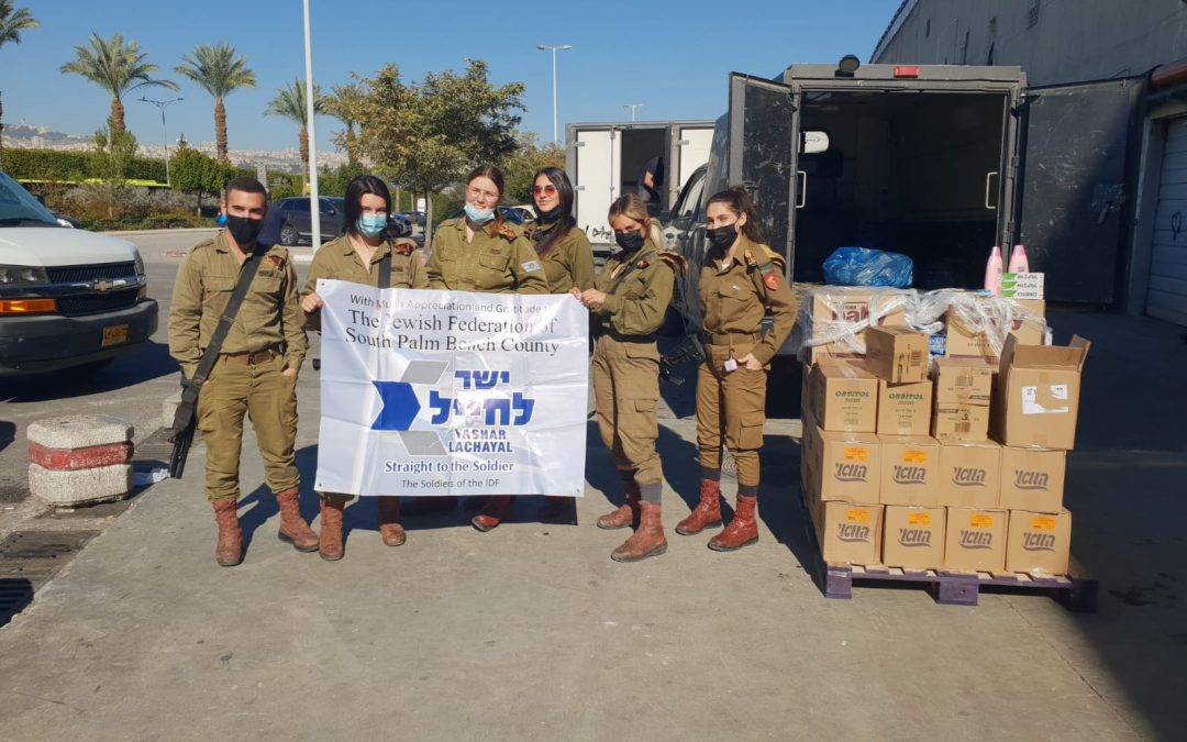 Giving Hygiene Supplies to Soldiers